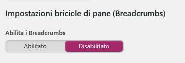 Yoast SEO pannello Avanzate / Breadcrumbs