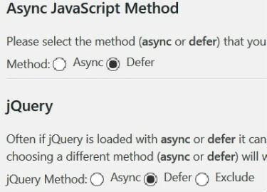 Impostazione plugin Async JavaScript in modalità defer
